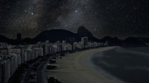 Copacabana Beach, Rio de Janeiro from Darkened Cities by Thierry Cohen